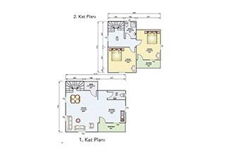 Prefabrik Ev Çift Katlı 105 m²