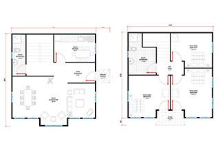 Prefabrik Ev Çift Katlı Lüks 124 m²