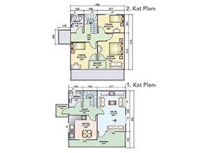 Prefabrik Ev Çift Katlı 131 m²