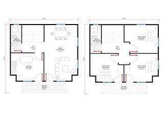 Prefabrik Ev Çift Katlı Lüks 150 m²