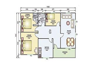 Prefabrik Ev Tek Katlı 119 m²