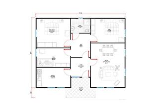 Prefabrik Ev Tek Katlı Lüks 108 m²