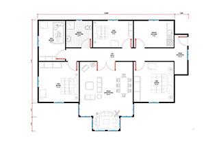 Prefabrik Ev Tek Katlı Lüks 115 m²