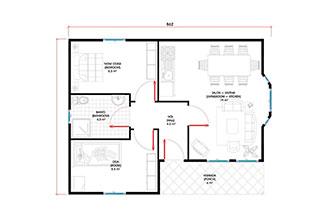 Prefabrik Ev Tek Katlı Lüks 55 m²