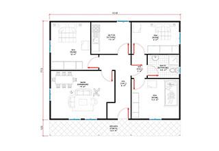 Prefabrik Ev Tek Katlı Lüks 92 m²