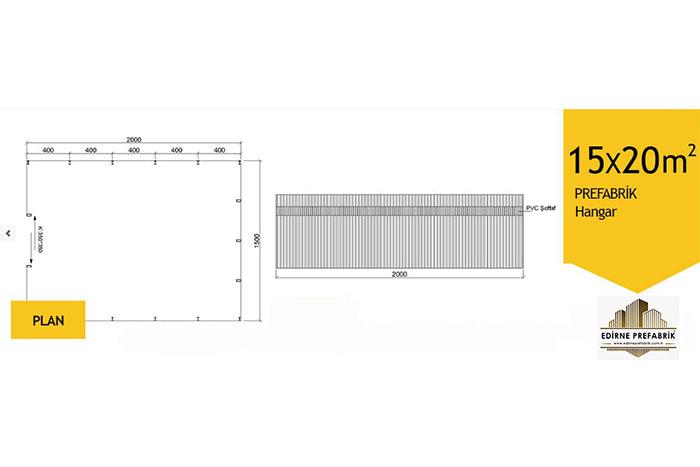 prefabrik-hangar-depo-edirne-15x20