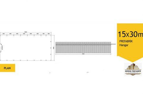 prefabrik-hangar-depo-edirne-15x30