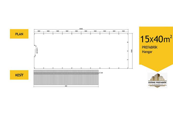 prefabrik-hangar-depo-edirne-15x40