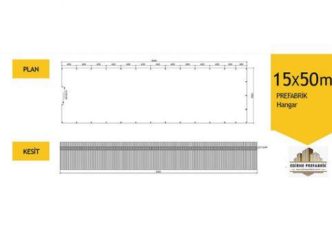 prefabrik-hangar-depo-edirne-15x50