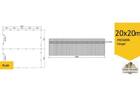prefabrik-hangar-depo-edirne-20x20