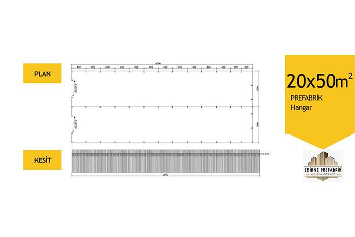 prefabrik-hangar-depo-edirne-20x50