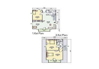 Prefabrik Ev Çift Katlı 134 m²